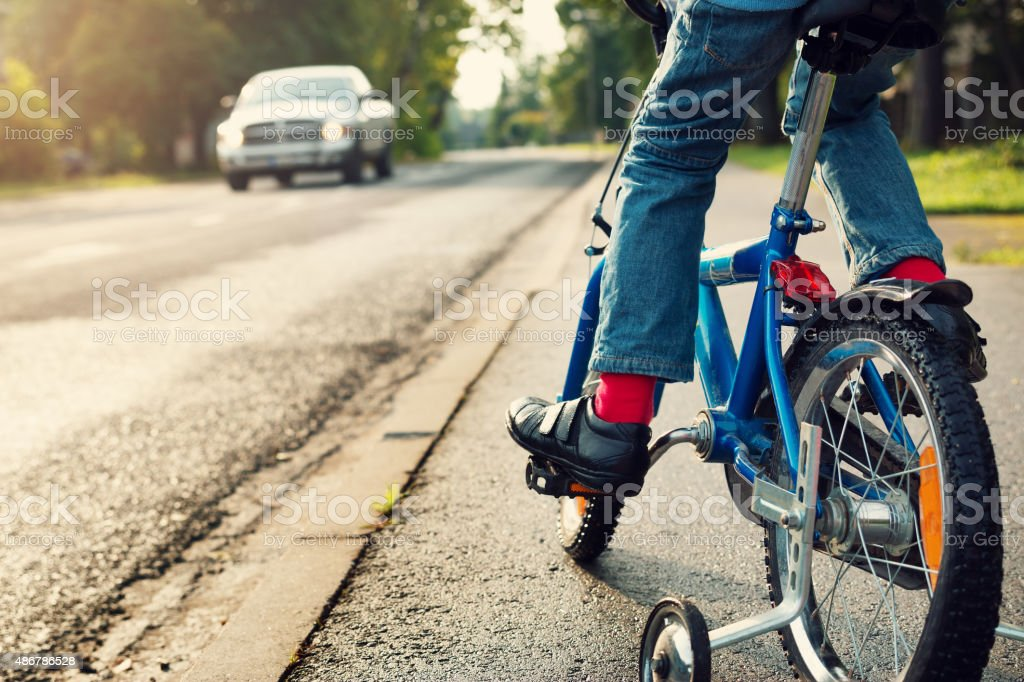 boy on bike stock photo