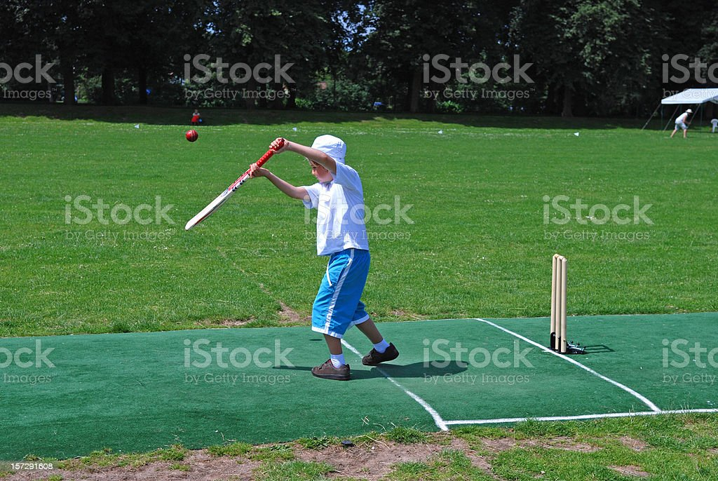 Boy on the pitch royalty-free stock photo