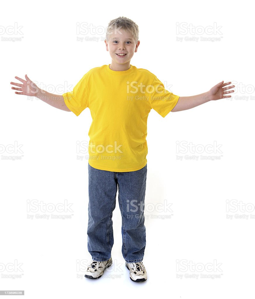 Boy On White Background royalty-free stock photo