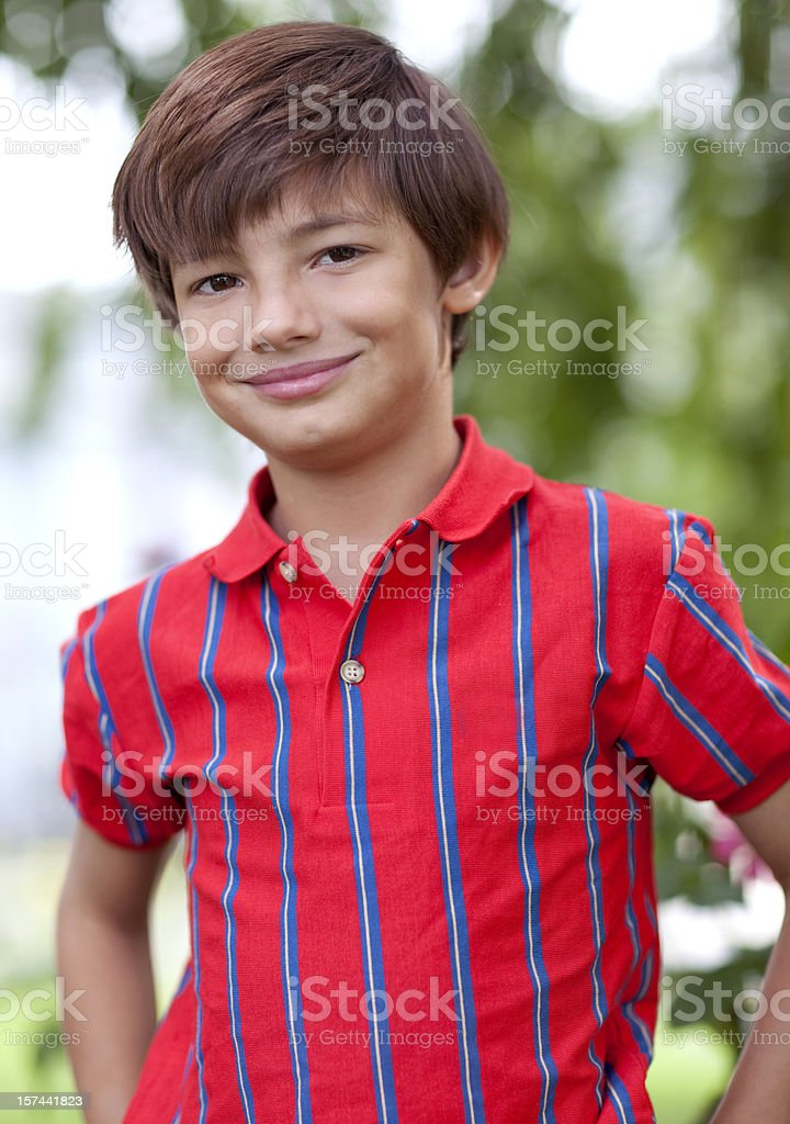Boy outdoors royalty-free stock photo