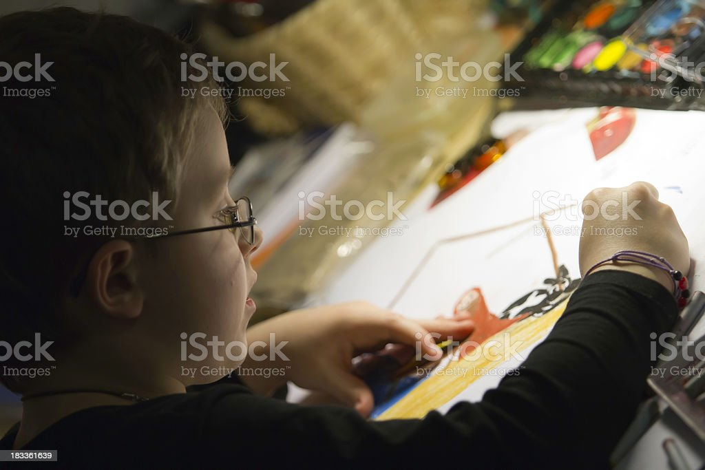 boy painting royalty-free stock photo