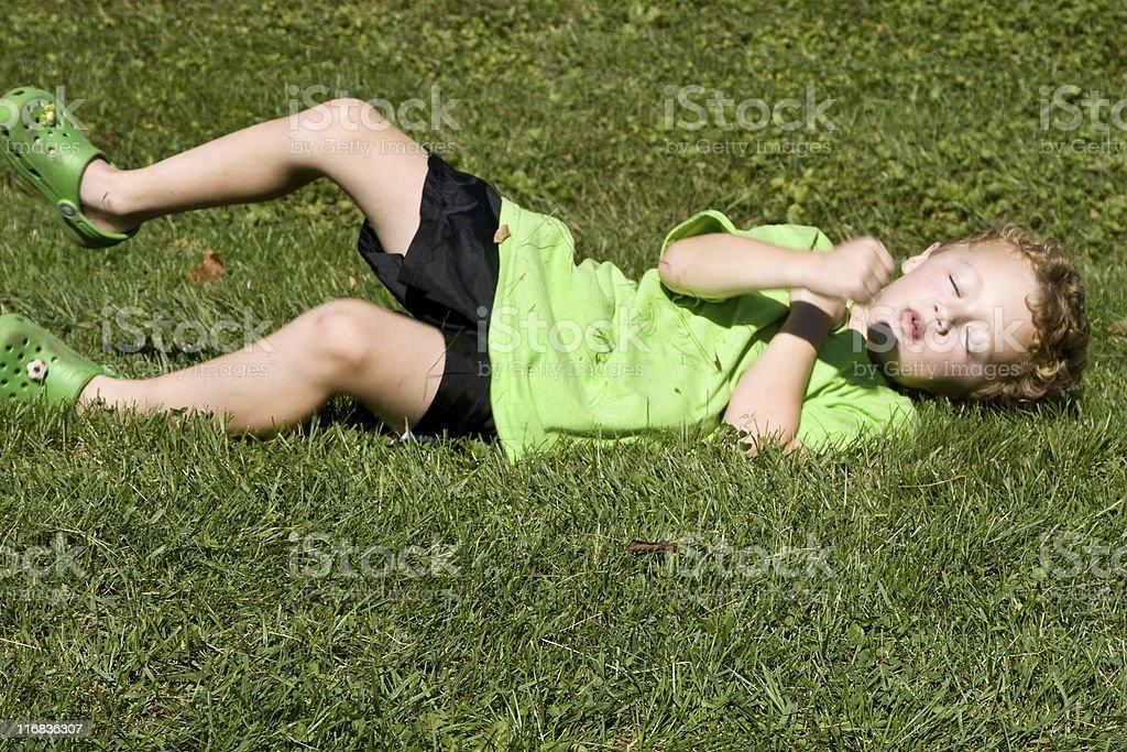 Boy playing royalty-free stock photo