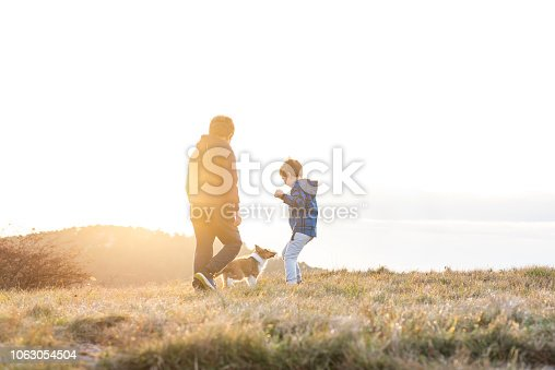 istock Boy Playing With a Puppy 1063054504
