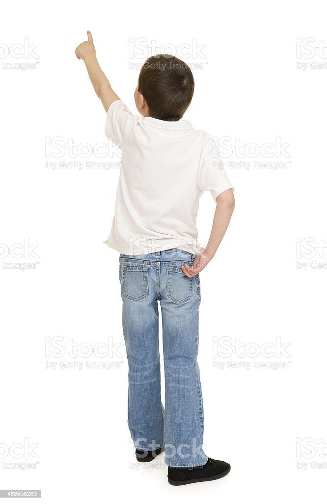 boy portrait in studio isolated stock photo