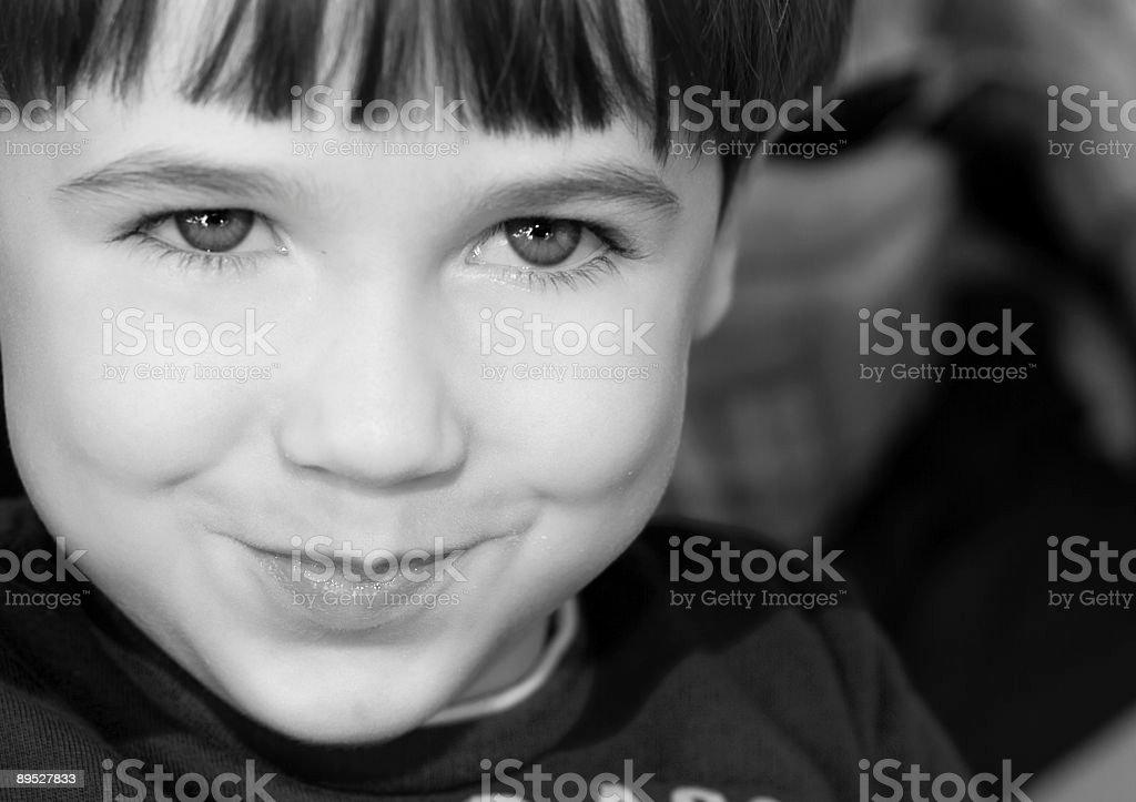 BW Retrato de niño foto de stock libre de derechos