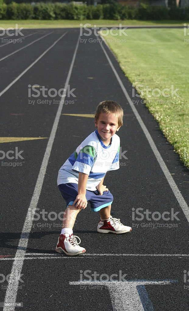 Boy Racing royalty free stockfoto