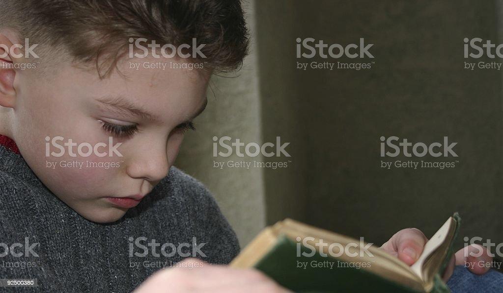 boy reading book 2 royalty-free stock photo