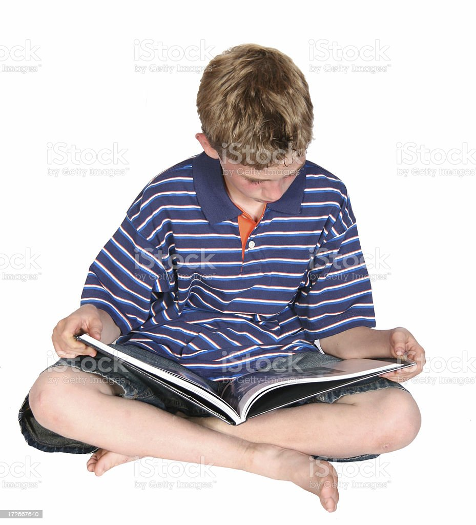 Boy Reading Book I royalty-free stock photo