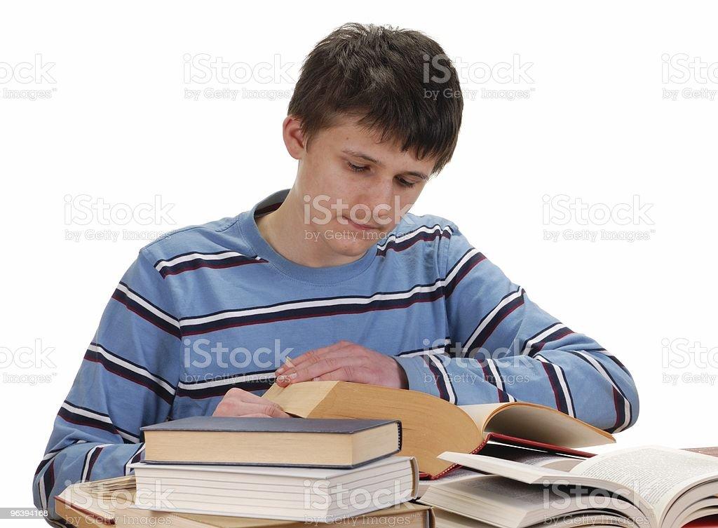 Boy リーティング書籍 - カットアウトのロイヤリティフリーストックフォト