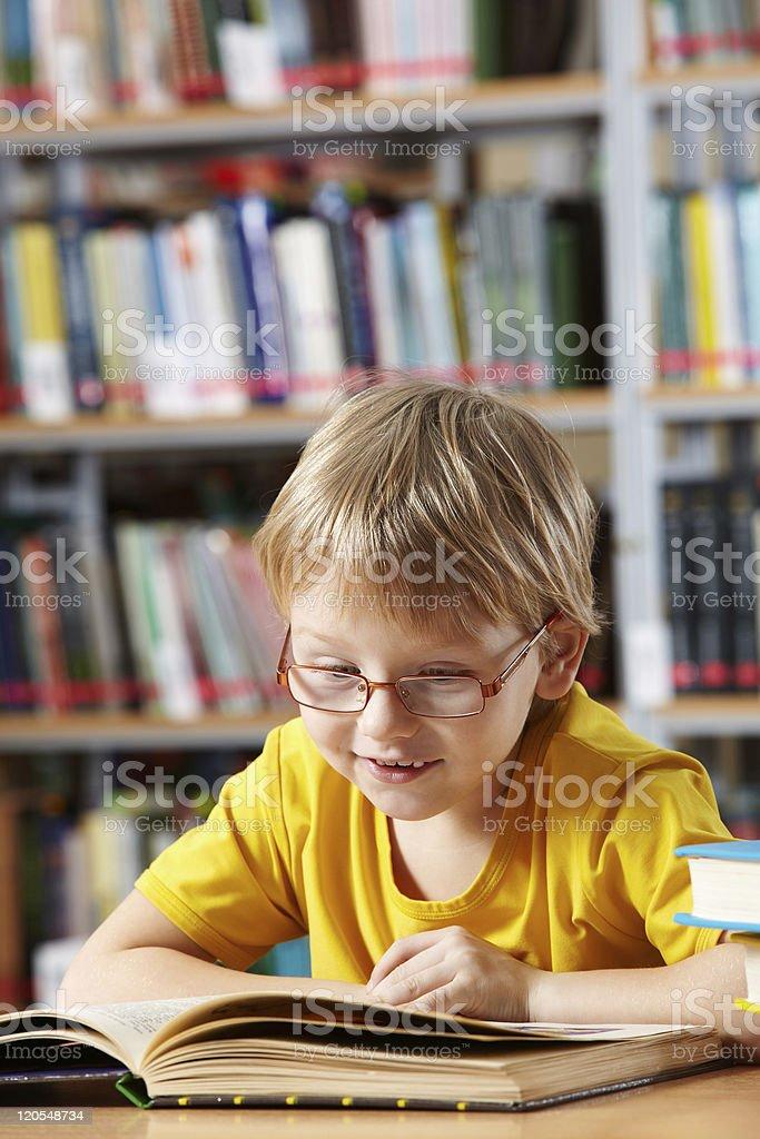 Boy reading royalty-free stock photo
