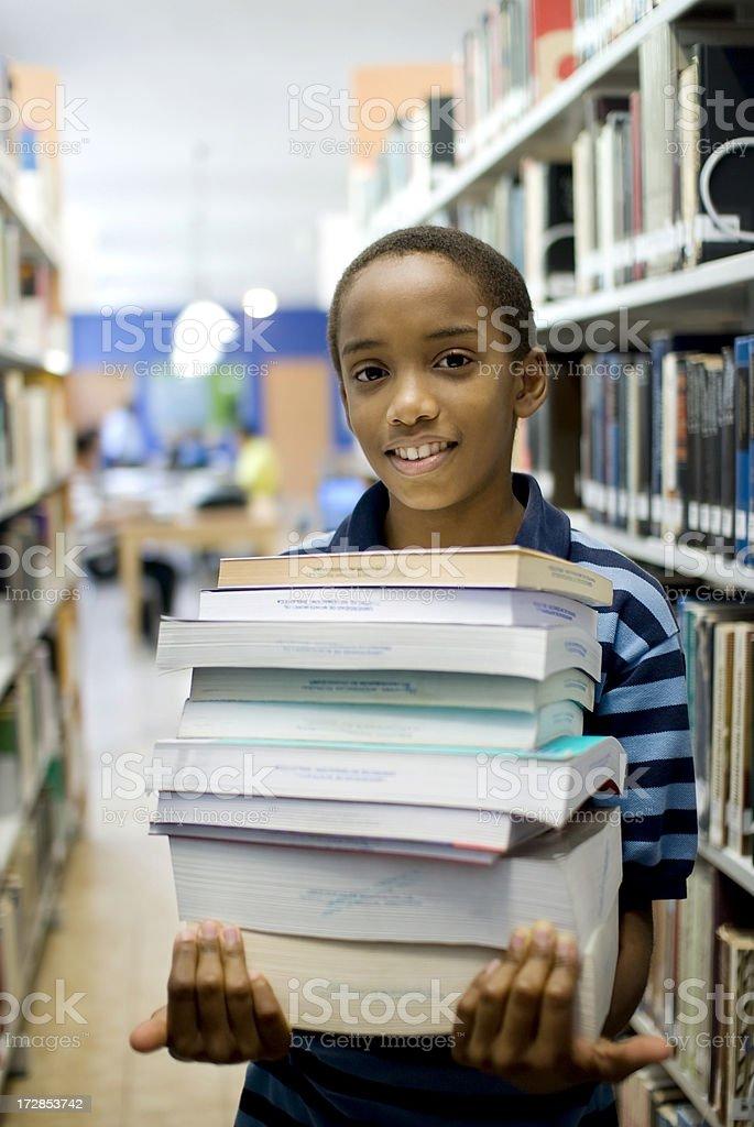 Boy ready to study royalty-free stock photo