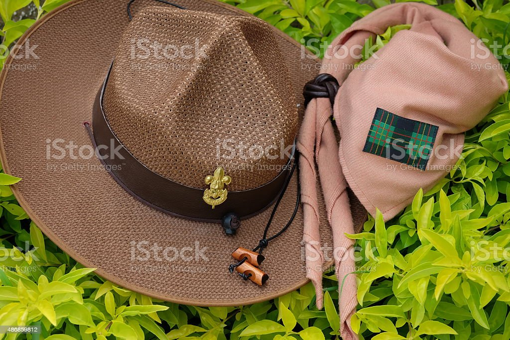boy scout equipment stock photo