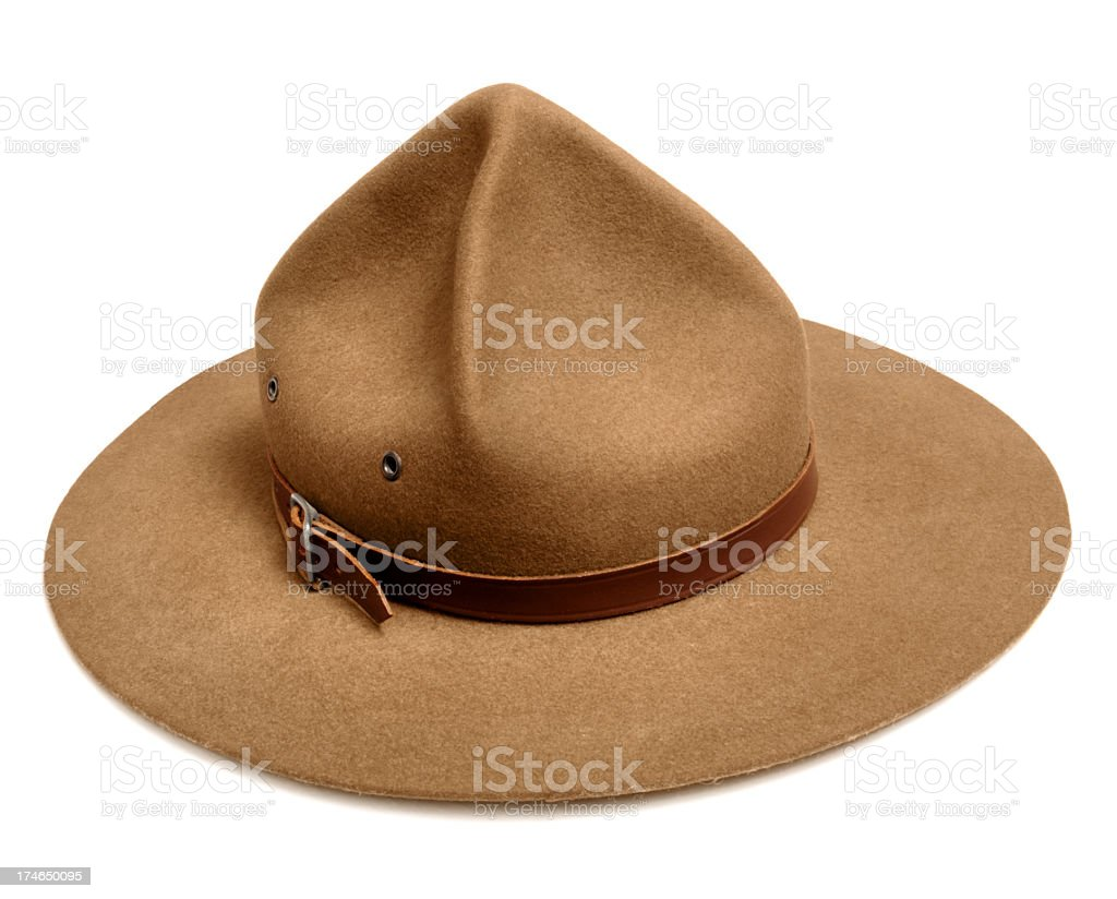 Boy Scout Hat stock photo