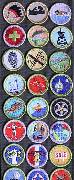boy scout mérito tarjetas de banda - boy scout fotografías e imágenes de stock