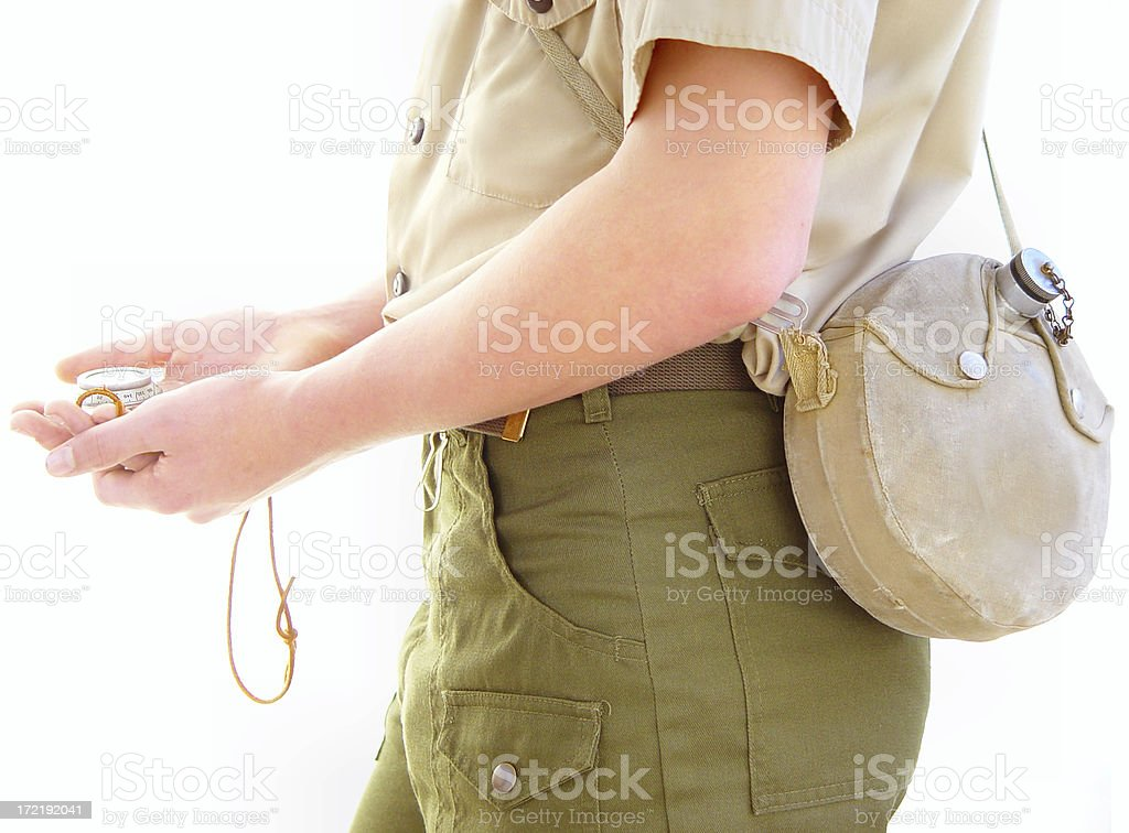 Boy Scouting stock photo