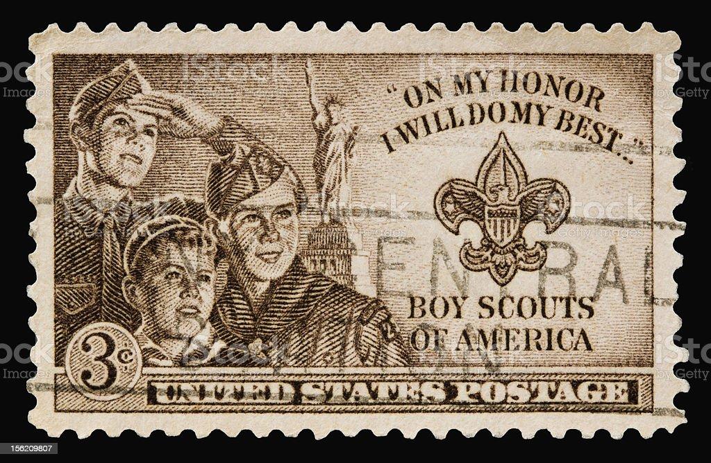 Boy Scouts 1950 stock photo