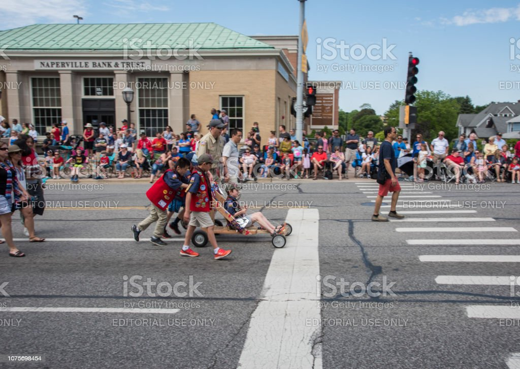 Boy Scouts in the Parade stock photo
