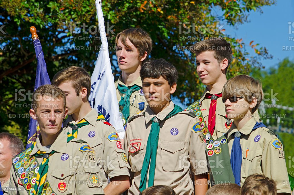 Boy Scouts of America stock photo