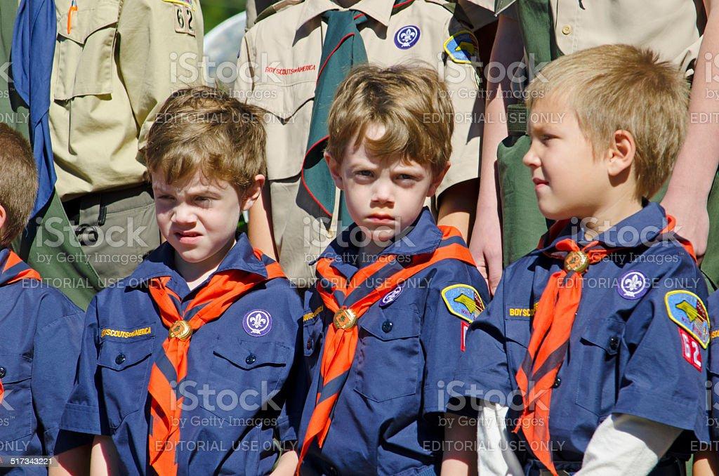 Boy Scouts stock photo