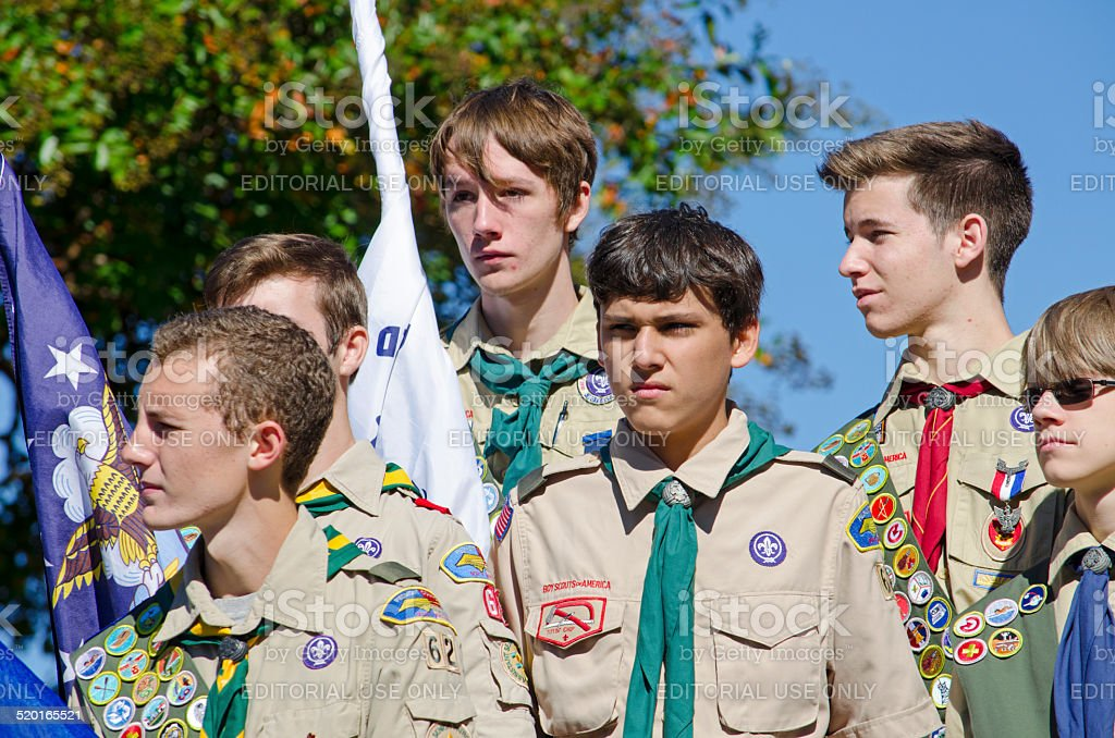Boy Scouts stock photo