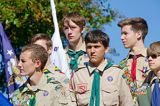 boy scouts - boy scout fotografías e imágenes de stock
