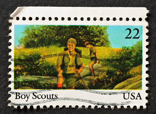 Boy Scouts Stamp stock photo