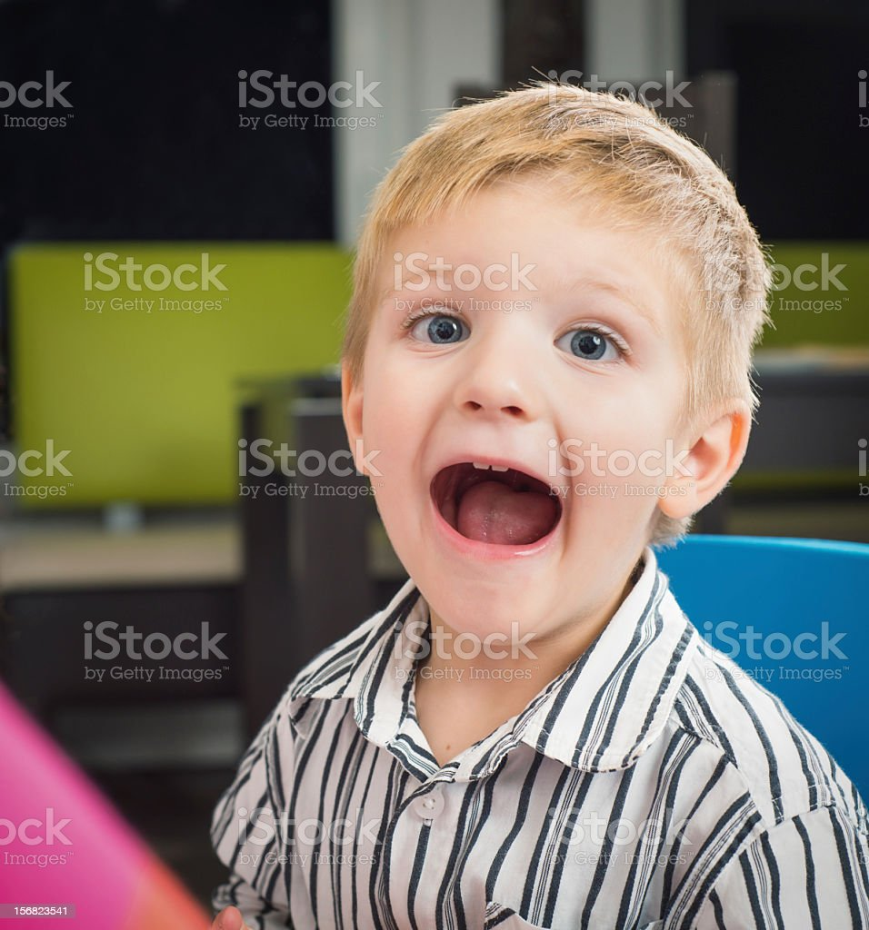 Boy screaming royalty-free stock photo