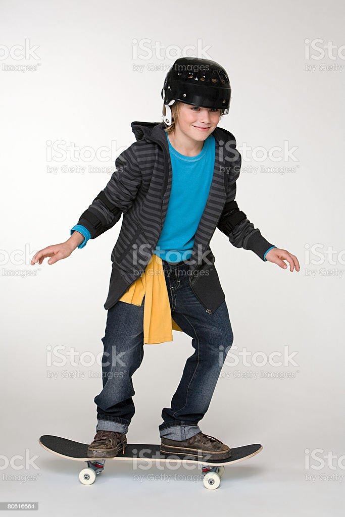 少年スケートボード ロイヤリティフリーストックフォト