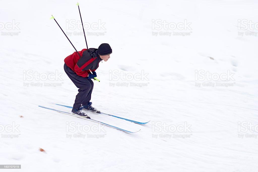 Boy Skiing royalty-free stock photo