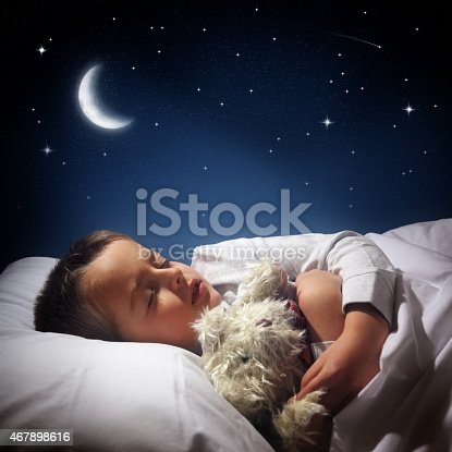 istock Boy sleeping and dreaming 467898616