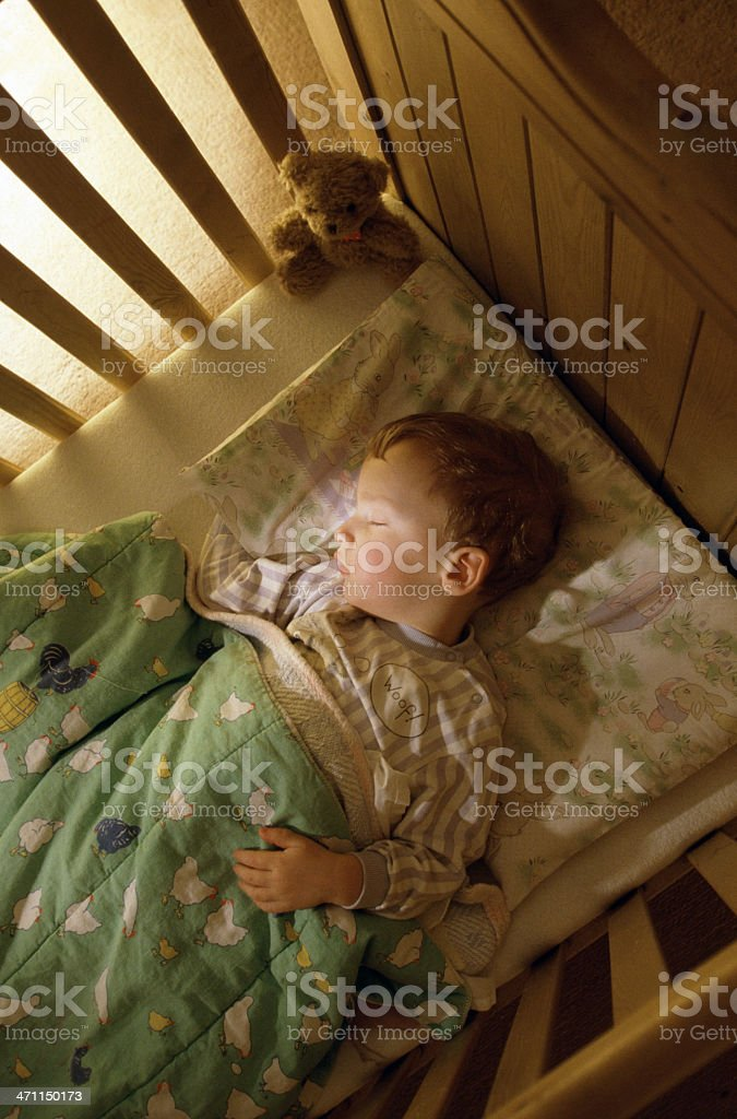 Boy sleeping royalty-free stock photo