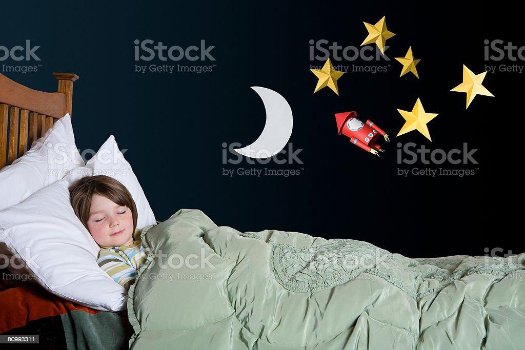 A boy sleeping stock photo