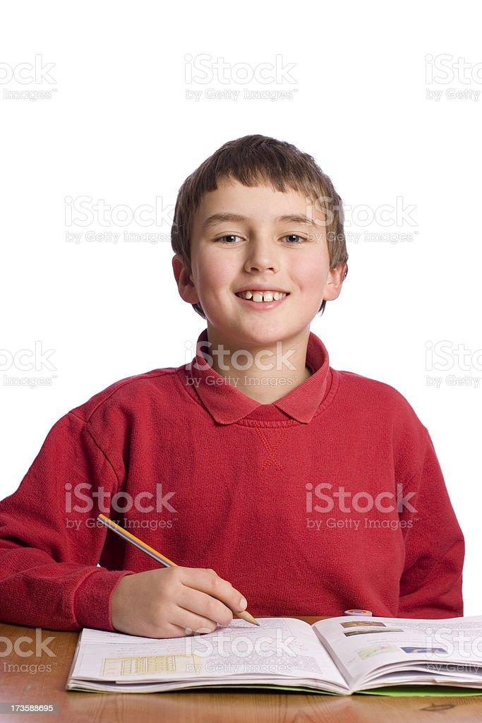 Boy smiling at camera royalty-free stock photo