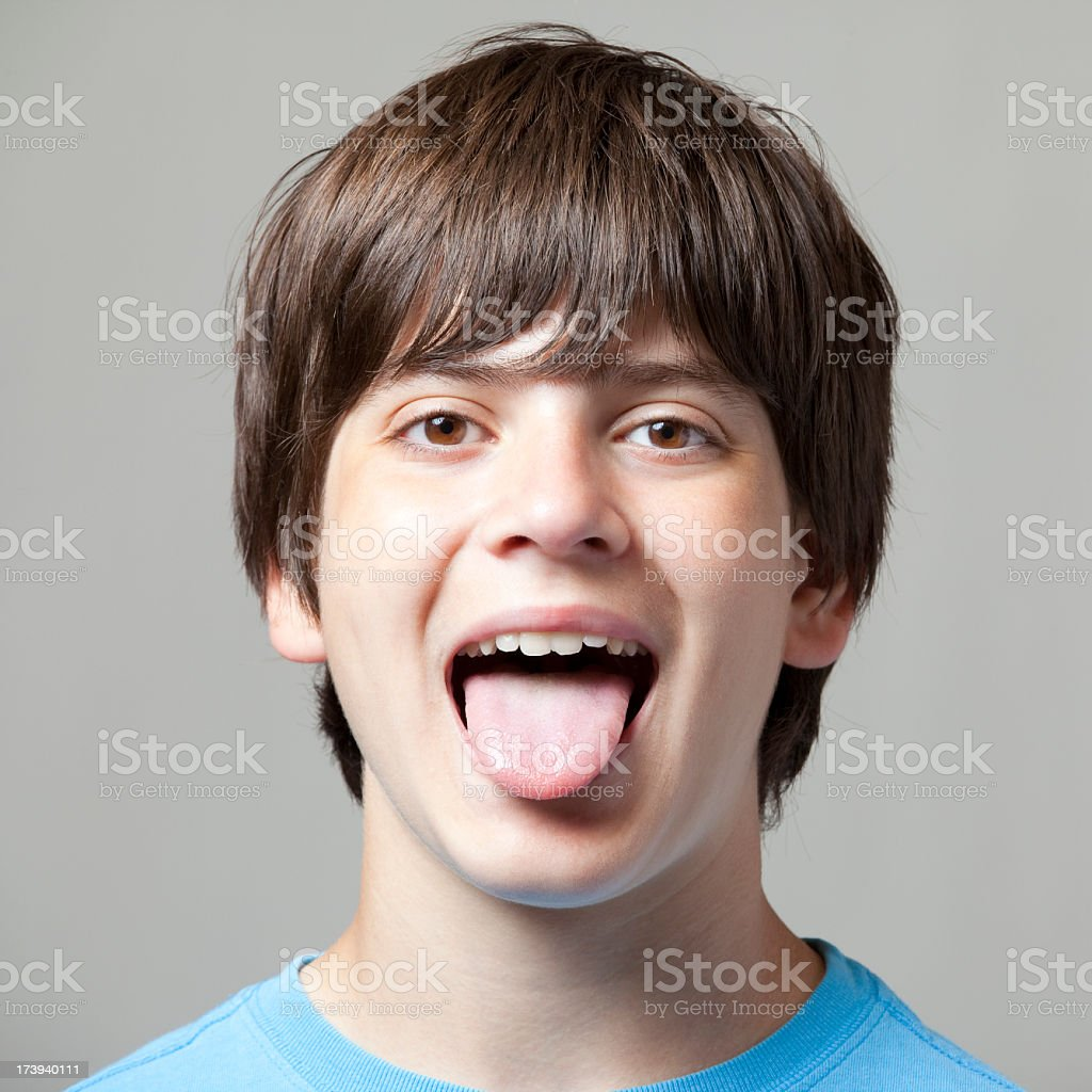 Boy Sticking out Tongue royalty-free stock photo