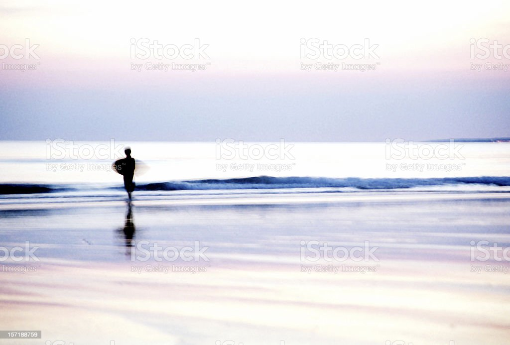 Boy surfing royalty-free stock photo