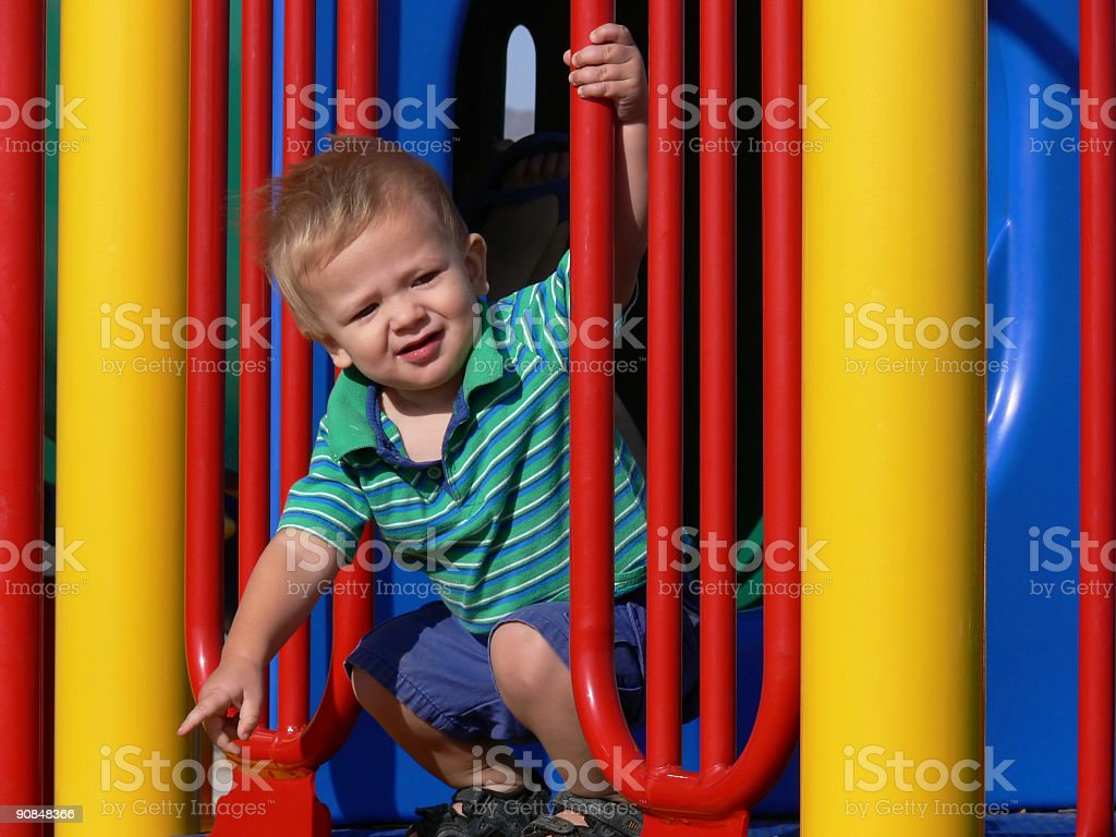 Boy Surrounded by Color stock photo