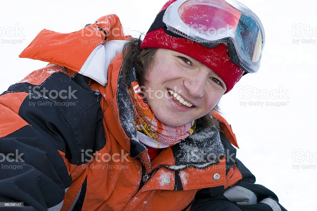 Boy teens, health lifestyle image of young adult snowboarder royalty-free stock photo