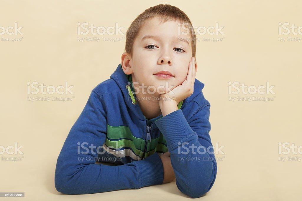 Boy thinking. royalty-free stock photo