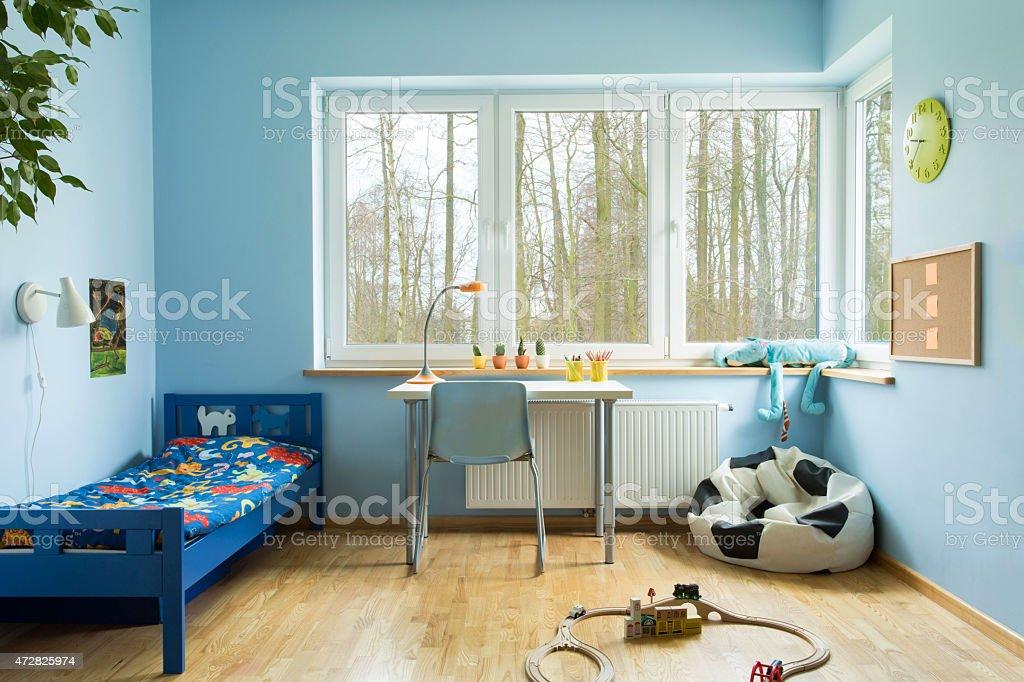 Boy toddler room stock photo