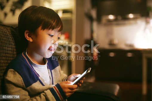 Boy Using Smart Phon