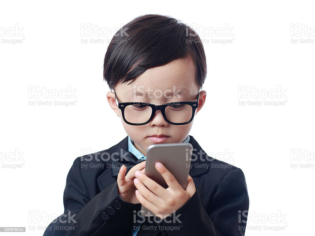 boy using smart phone picture id532878444