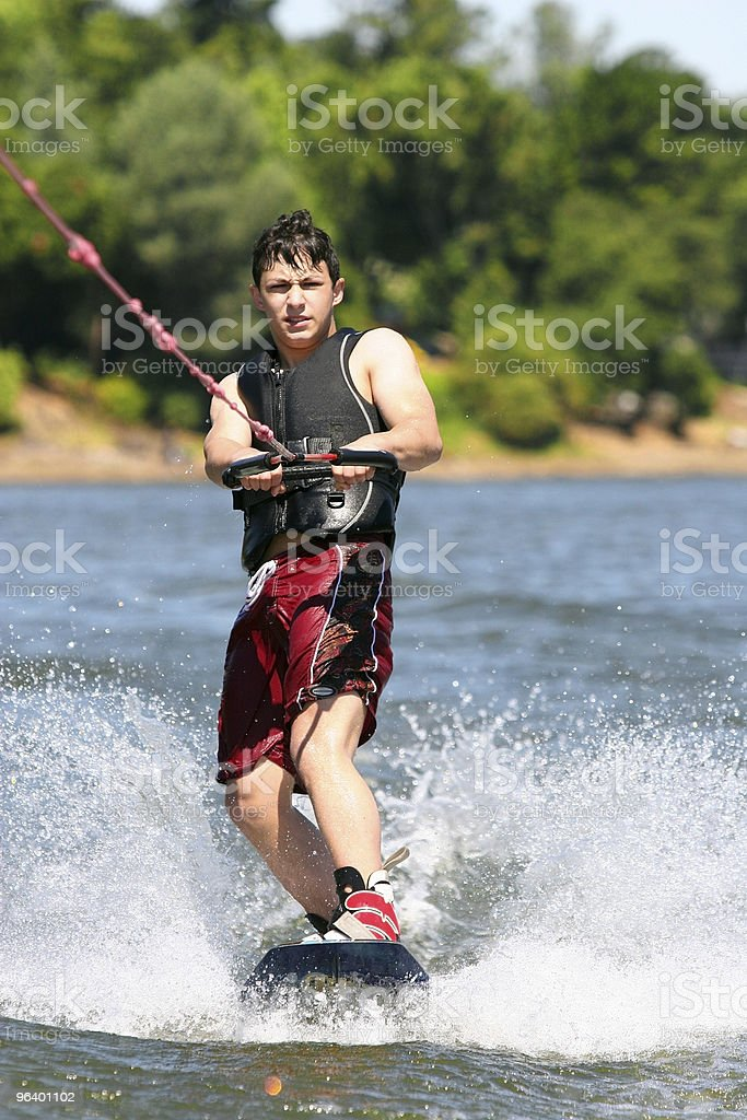 Boy wakeboarding - Royalty-free Adolescence Stock Photo
