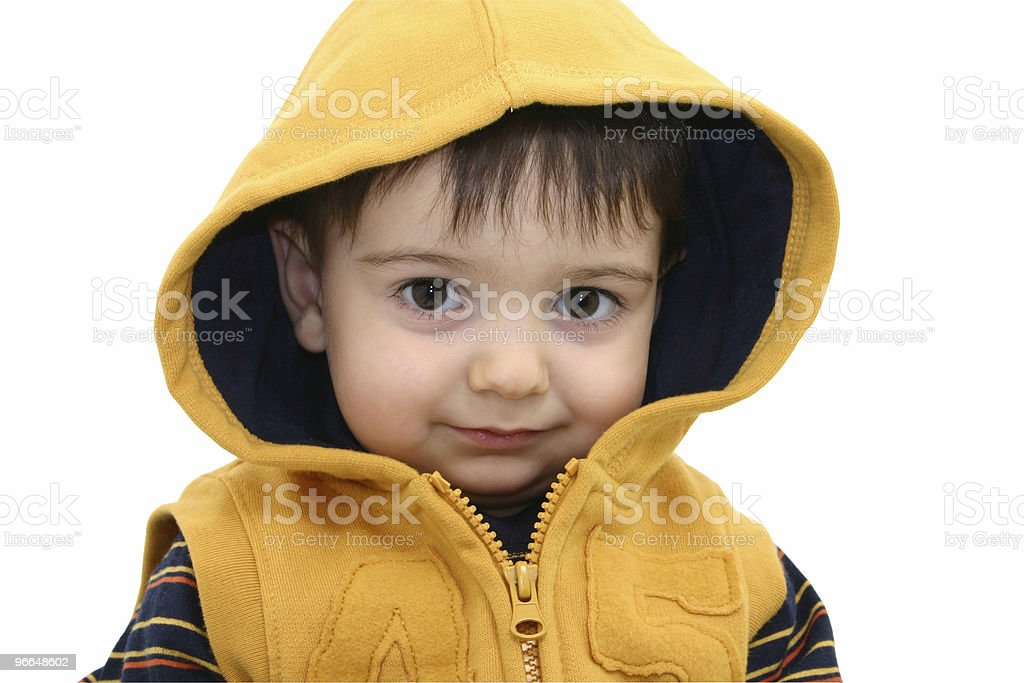 Boy w/Clipping Path on White royalty-free stock photo