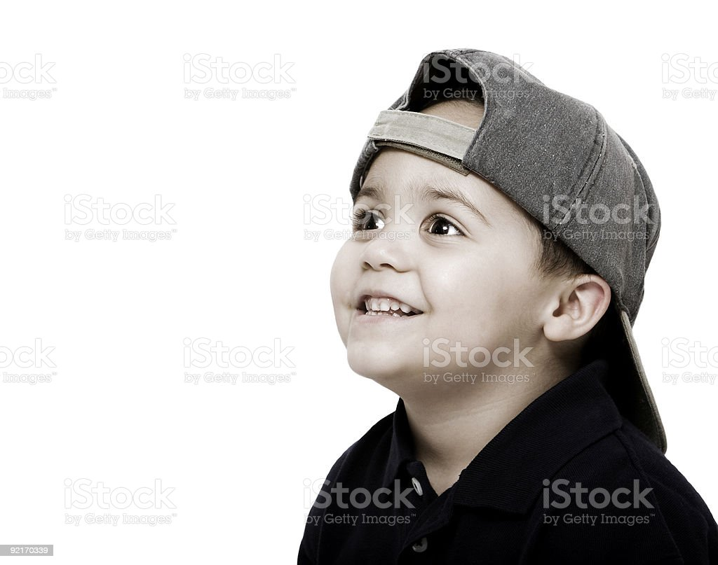 Boy wearing cap stock photo