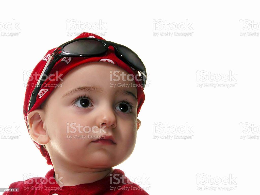 Boy Wearing Do Rag royalty-free stock photo
