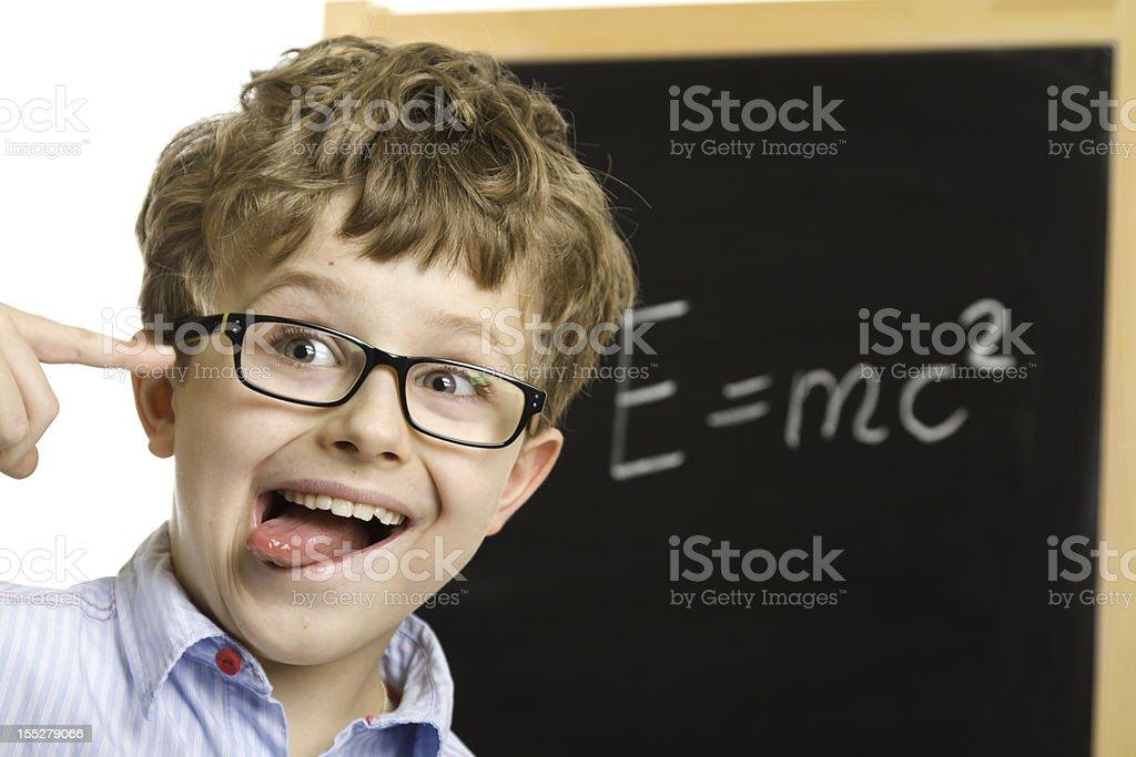 boy wearing eyeglasses royalty-free stock photo