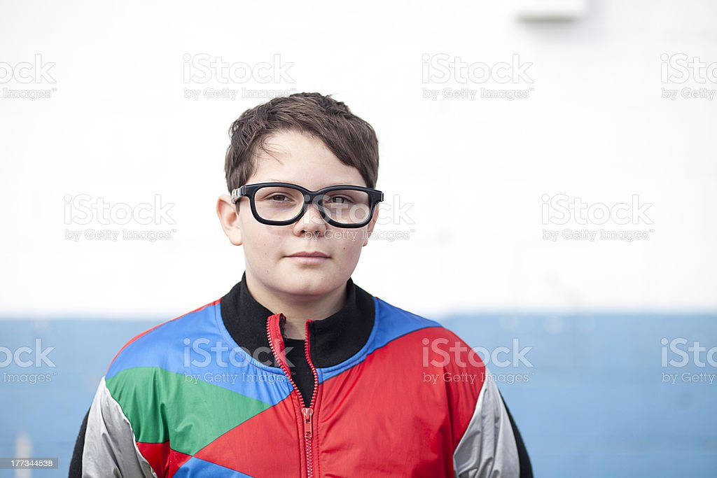 Boy with 3D Glasses stock photo