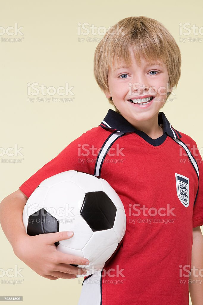 Boy with a football 免版稅 stock photo