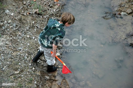 istock Boy with a Net 89949212