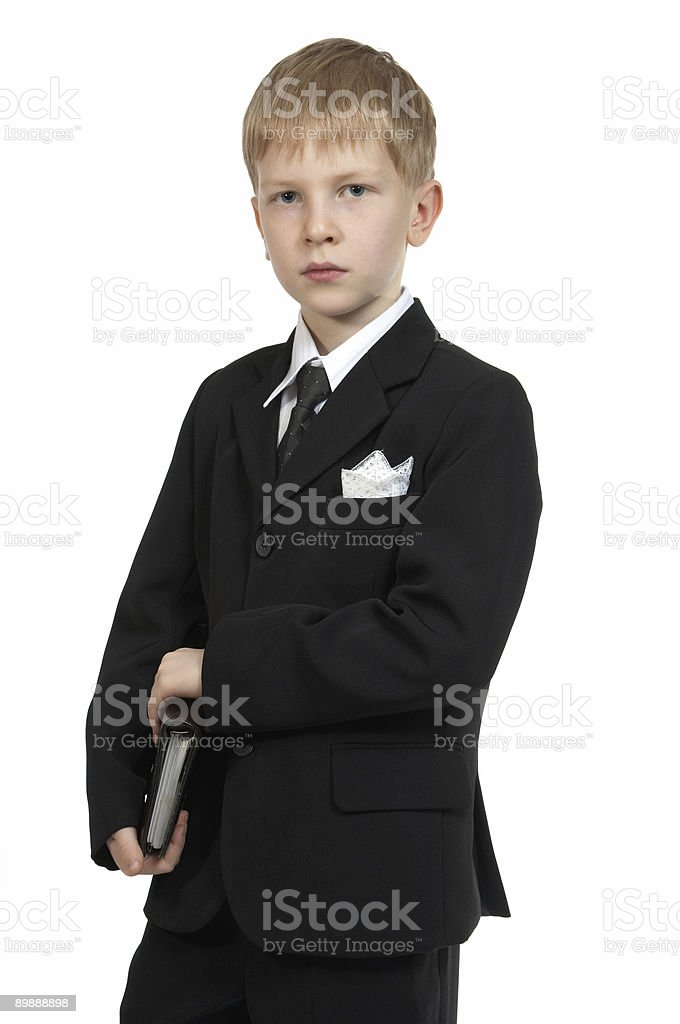 Boy with a notebook. royalty-free stock photo